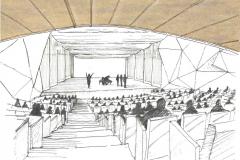Konzertsaal-Iran-Mall-Teheran-Skizze-Blick