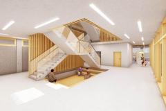 K1024_Wettbewerb-Schulhaus-Naters-Schweiz-Innenraum-Zentrale-Halle-EG