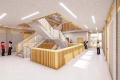 K1024_Wettbewerb-Schulhaus-Naters-Schweiz-Innenraum-Zentrale-Halle-OG